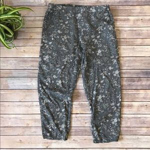 Gap Size XL Floral Grey Jogger Pants
